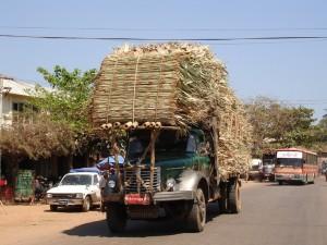 Burma old truck stone overload